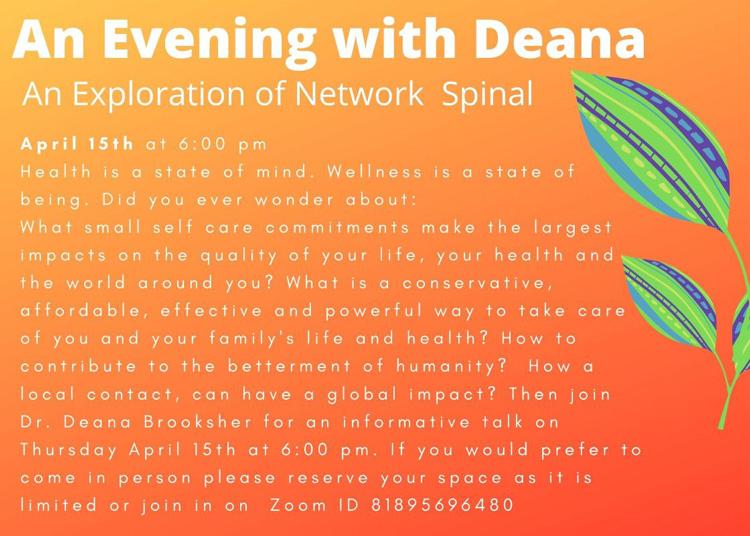 Chiropractic Clarkesville GA Evening With Deana