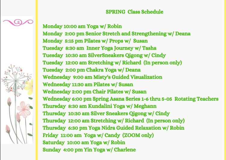 Chiropractic Clarkesville GA Spring Class Schedule